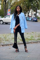 romwe coat - Missguided boots