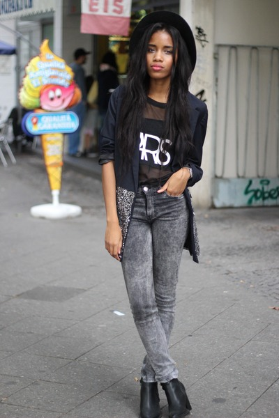 Goldie London blazer - asos jeans