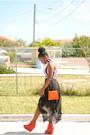 Carrot-orange-agace-shoes-white-agace-dress-carrot-orange-thrifted-purse