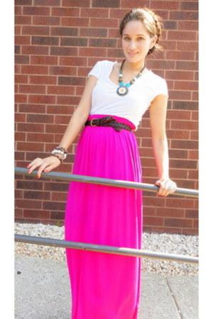f21 skirt - Aldo bag - gifted necklace - vintage belt - sam edelman sandals