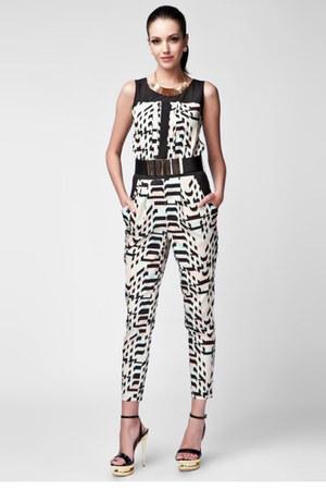 geometric print jumper