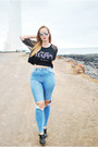 Black-lovelywholesale-boots-blue-stradivarius-jeans