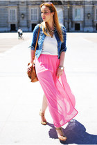 bubble gum inlovewithfashion skirt - bronze Zara shoes