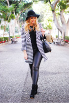 black Sheinside coat - black Primark leggings - black Zara bag