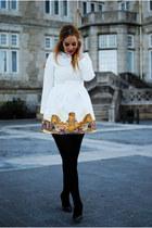 ivory Oasapcom dress - charcoal gray Mango heels