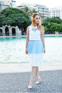 Bubble-gum-zara-shoes-sky-blue-sugarhill-boutique-skirt
