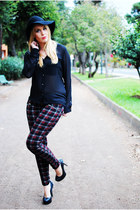 brick red Fashion Union pants - black Bershka blouse - black new look pumps