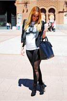 black Born Pretty Store leggings - black Massimo Dutti blazer