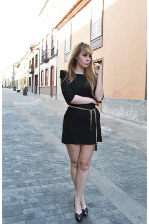 black BLANCO dress - black Zara belt