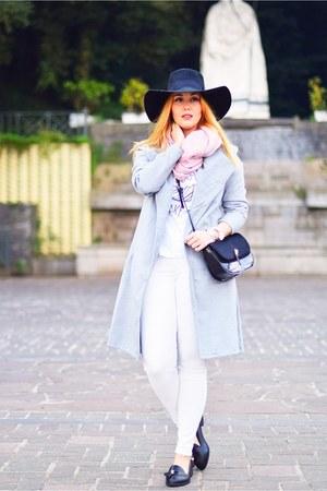 black H&M hat - silver sammydress coat - white Dead Legacy shirt