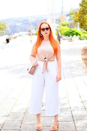 beige Marypaz heels - white Primark pants - eggshell Zara blouse