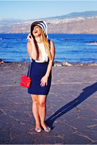 navy Primark hat - ruby red Bimba & Lola bag - navy OASAP skirt