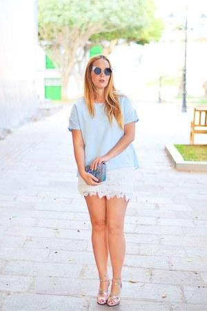 sky blue Ottaviani Bijoux bag - white CNdirect dress