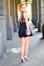 Black-dressin-dress-black-ottaviani-bag-silver-amiclubwear-sandals