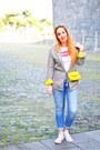 Sky-blue-levis-jeans-yellow-bershka-blazer-yellow-zara-bag