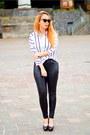 Black-dior-sunglasses-black-quiz-pants-ivory-sammydress-blouse