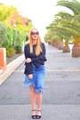 Crimson-opticalh-woow-sunglasses-black-blanco-heels-blue-zara-skirt