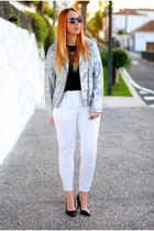heather gray BLONDEDGE jacket - black Zara shoes - dark gray Freyrs sunglasses
