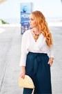 Teal-zara-pants-white-massimo-dutti-blouse-tawny-zara-heels