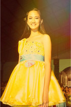 yellow homemade dress