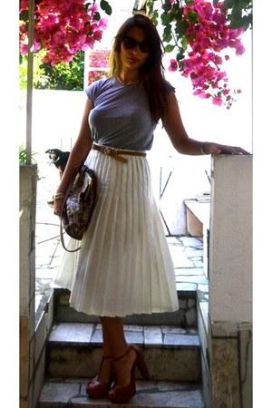Zara Basic shirt - vintage skirt