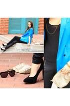 Bershka blazer - H&M t-shirt - Centro heels - Bershka necklace