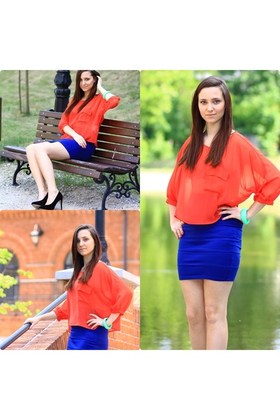 Forever 21 skirt - c&a top