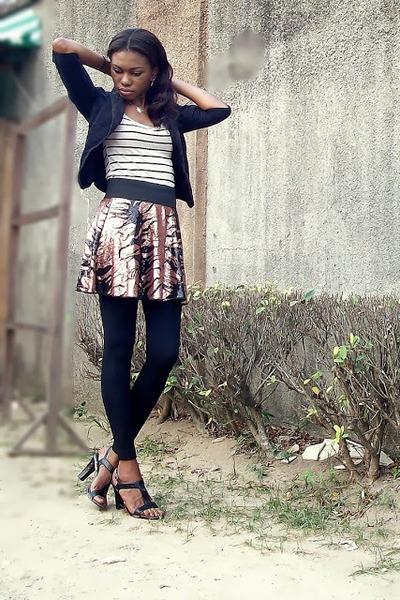black t-strap Michael Kors shoes - black corduroy Car Mar blazer