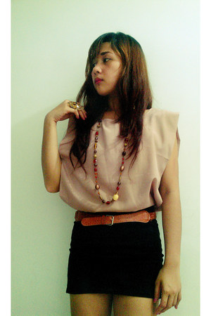 Mango blouse - H&M ring - H&M skirt