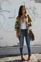 vintage jacket - H&M jeans - Manolo Blahnik pumps