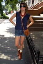 Target top - shorts - Target purse - Steve Madden boots - American Apparel socks