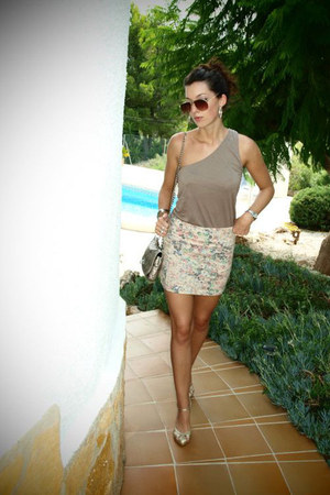 bag - vintage from my dad sunglasses - no name heels - Terranova top - Primark s