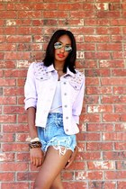 H&M top - LoveCharlieJ jacket - DIY shorts