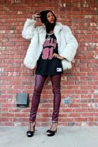 Love Charlie J Saga Fox Fur coat - Thrifted Dennis Rodman top