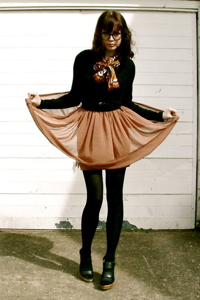 Primark dress - vintage scarf - asos heels