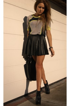 H&M skirt - Zara bag - asos top - Topshop heels