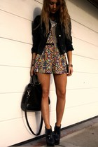 Topshop boots - Topshop jacket - Zara bag - asos romper