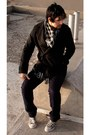 Robert-lewis-coat-coated-jeans-barbados-jeans-handmade-scarf