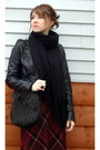 Black-faux-fur-vintage-bag-black-faux-leather-target-jacket