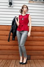 Silver-h-m-jeans-brick-red-ruffled-shell-anthropologie-blouse