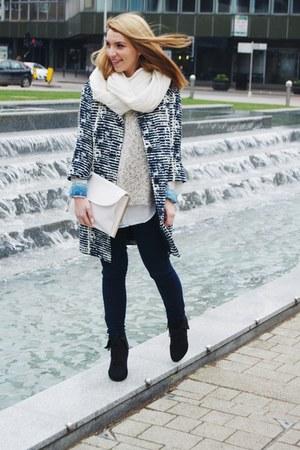 Massimo Dutti blouse - new look boots - Fenn Wright Manson coat - Only leggings