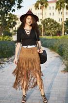 suede Sheinsidecom skirt
