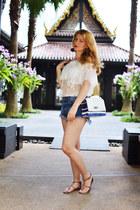 white Sheincom blouse
