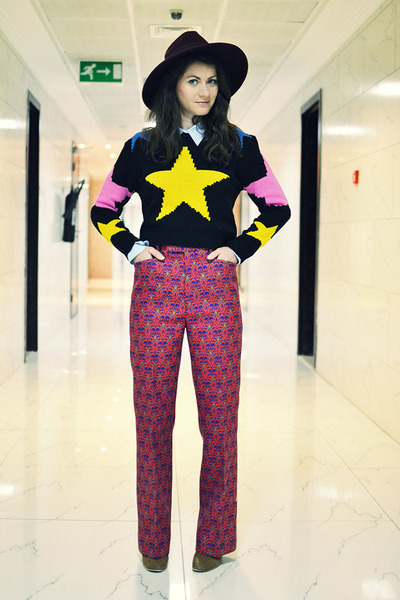 PERSUNMALL sweater - Miu Miu pants