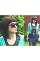 black suspenders Ebay tights - dark brown 50s Topshop sunglasses