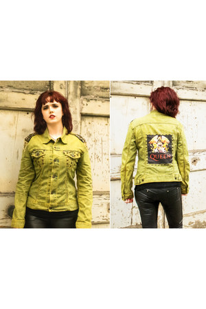dark khaki rocker reworked by nicolle evans jacket