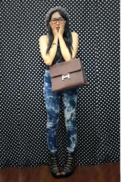 blue ostrich purse - Dark Brown Leather Bag Hermes Bags, Black Boots Wedges Gosh Wedges ...