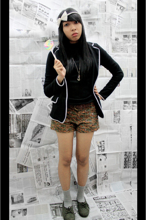 blouse - Gaudi blazer - shorts - Converse socks - shoes