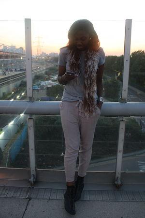 KG by Kurt Geiger boots - A Friends scarf - new look pants - Zara t-shirt