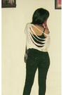 Beige-yongki-komaladi-shoes-black-my-high-weist-jeans-gold-casio-watch-vinta